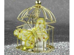 Cage avec papillon & dragées amandes