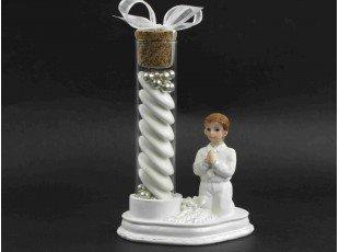 Éprouvette en verre - communion garçon
