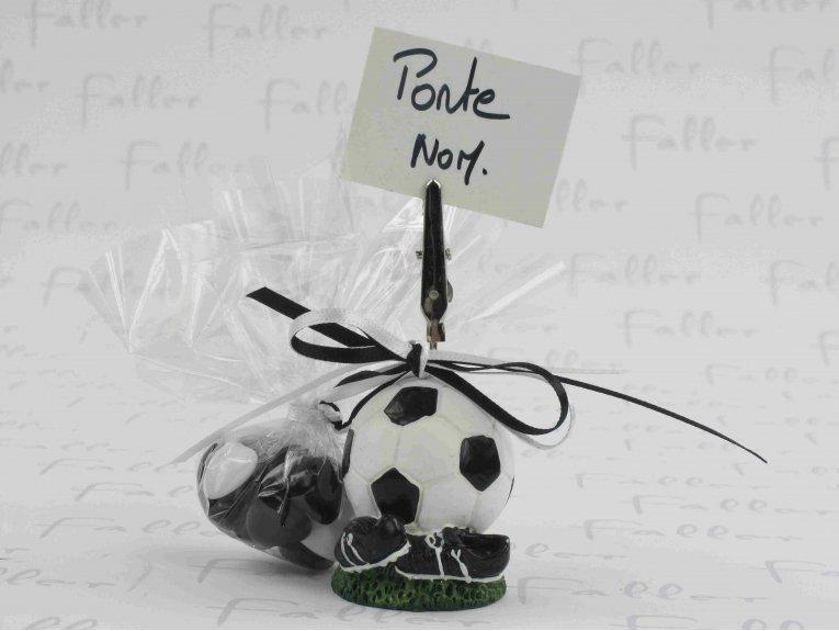 Ballon de foot porte photo avec dragées baptême