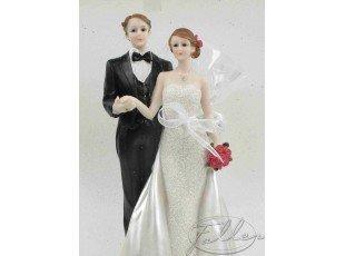 Couple de mariés grand modèle avec dragées