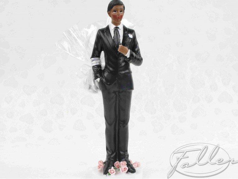 Dragées mariage avec homme de couleur moyen modèle