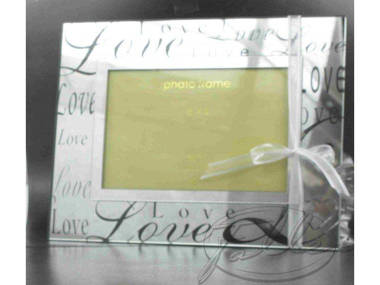 Cadre photo mariage Love miroir avec dragées