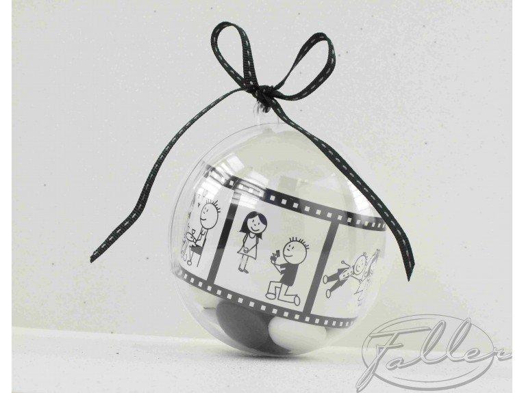 Dragées dans boule plexi cinéma romantique