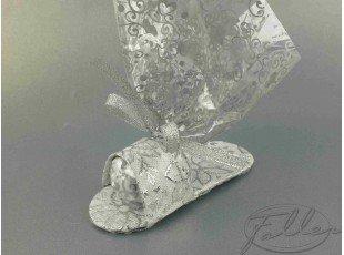 Sandale argentée orientale pour mariage ou fête