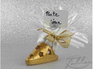 Babouche dorée porte-carte pour mariage oriental