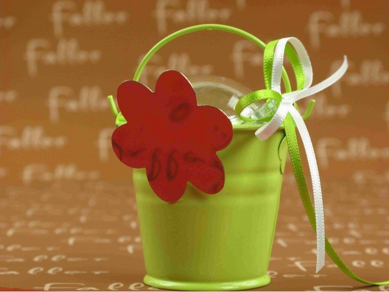 Dragees faller dans seau zinc anis fleur aimantee