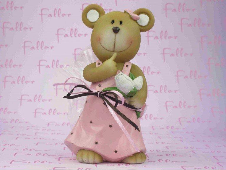 Tirelire ours avec dragées pour fille
