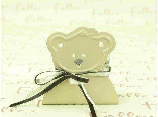Porte bougie ours ecru avec boite a dragees faller