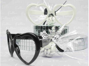 Lunette forme coeurs pour mariage