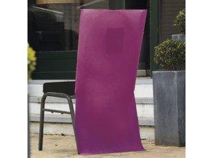 Housse chaise prune avec poche