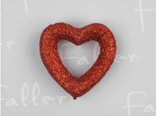 Deco fete coeur relief de couleur rouge