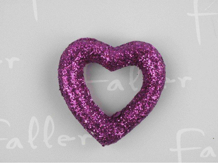 Deco fete coeur relief lilas