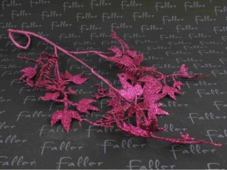 Feuille de vigne fuchsia avec paillettes