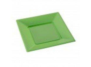 Assiettes plastique verte (grand modele)