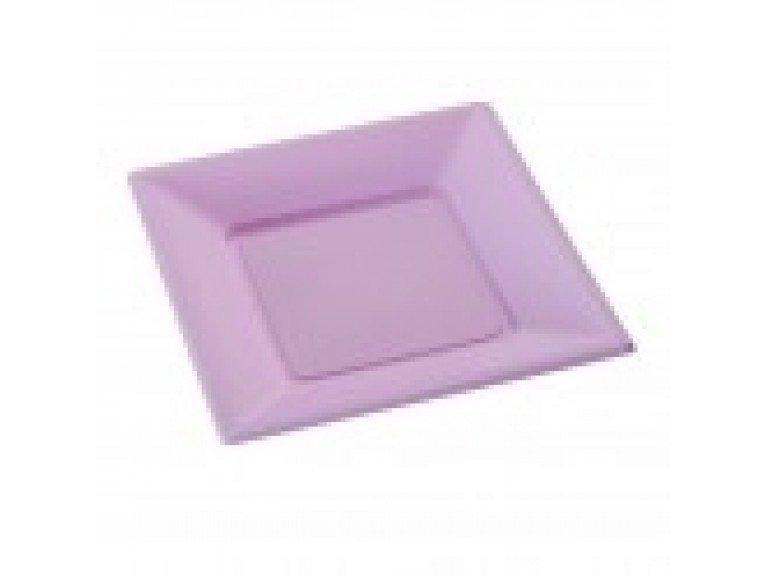 Grande assiette en plastique couleur lilas