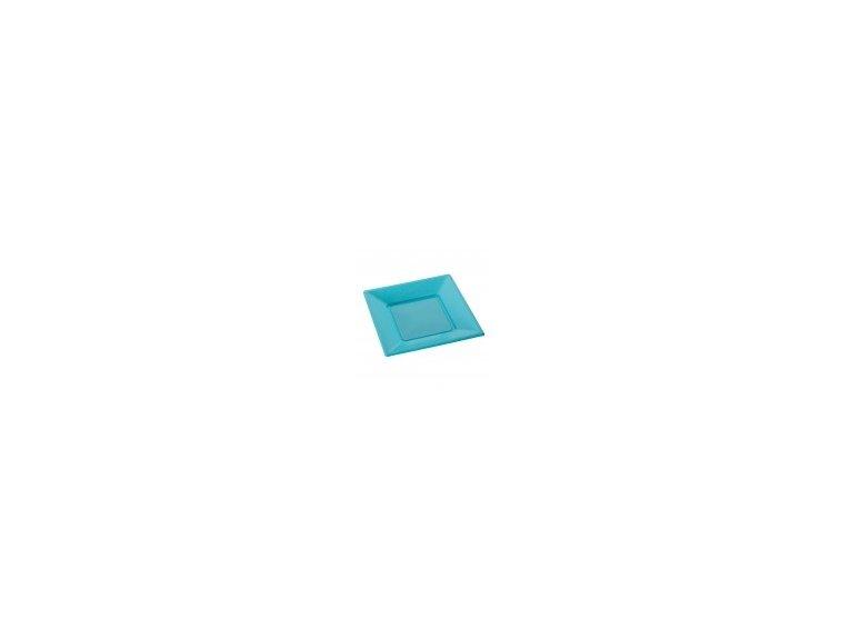 Grande assiette plastique turquoise