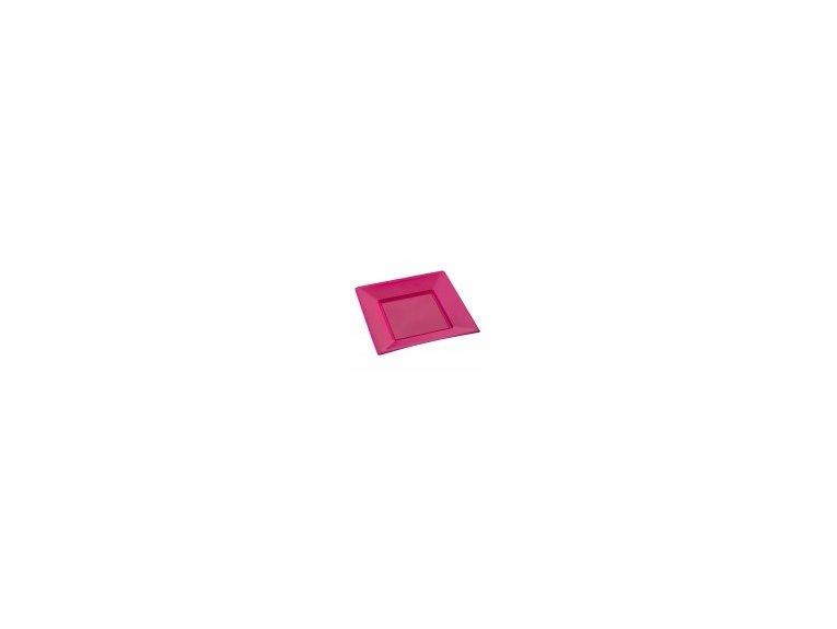 Assiette fuchsia petit modele (en plastique)