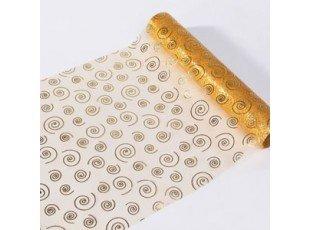 Chemin de table or avec spirales