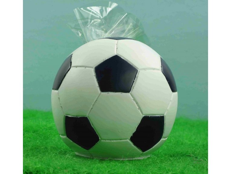 Tirelire ballon de foot avec dragées garçon