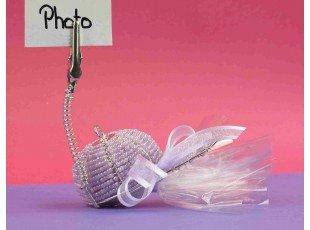 Dragées & casquette perlée lilas