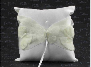 Coussin alliance deco papillon ecru