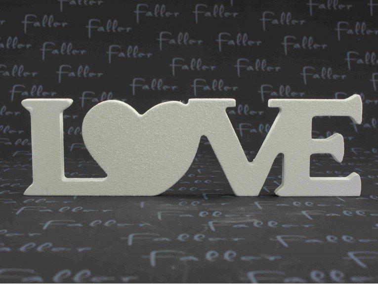 Element de deco pour mariage lettres love argentees