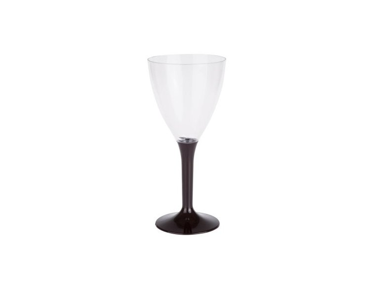 Verre à vin noir en plastique