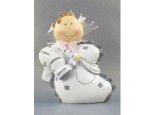 Tirelire bébé Baby Doll et dragées baptême