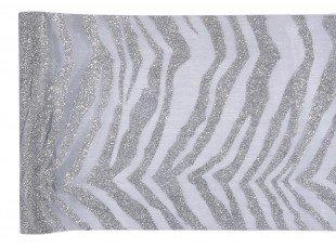 Chemin de table zebra argent