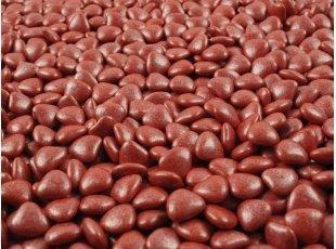 Sachet dragées mini-coeur rouge (500 gr)