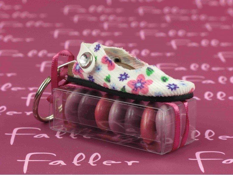 Sandale fleuries avec dragees bapteme