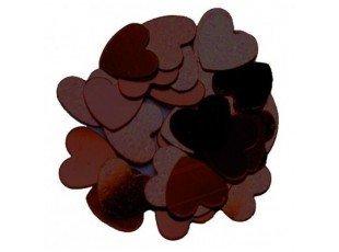 Déco table : mini coeurs effet miroir couleur chocolat