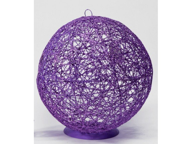 Présentoir dragées : Grande boule en métal lilas
