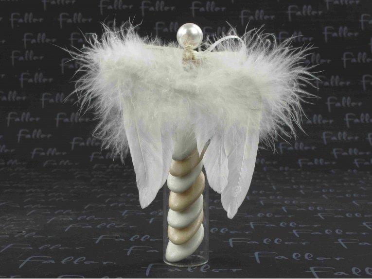 Dragées communion dans éprouvette aile d ange