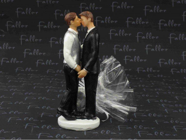 Dragées mariage avec couple d'hommes amoureux