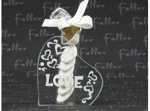 Dragées dans soliflore mariage love