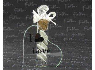 Soliflore de mariage i love you avec dragées
