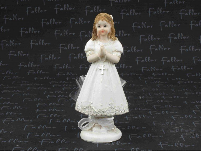 Grande figurine communiante avec dragées coeur