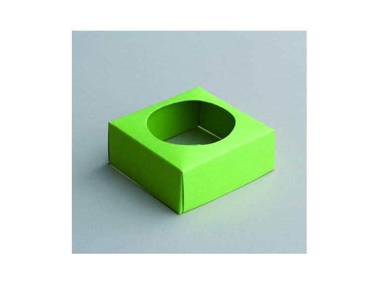 Socle vert anis pour boule plexi 5cm