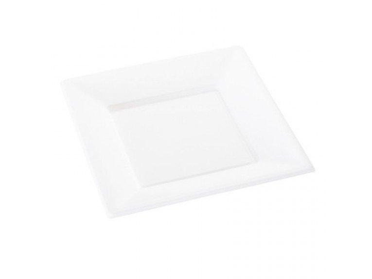 Petite assiette en plastique transparente