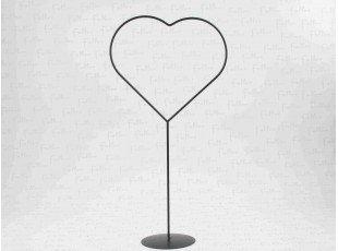Présentoir dragées : Coeur noir en métal