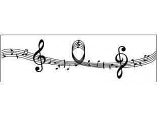 Chemin de table gamme de  musique