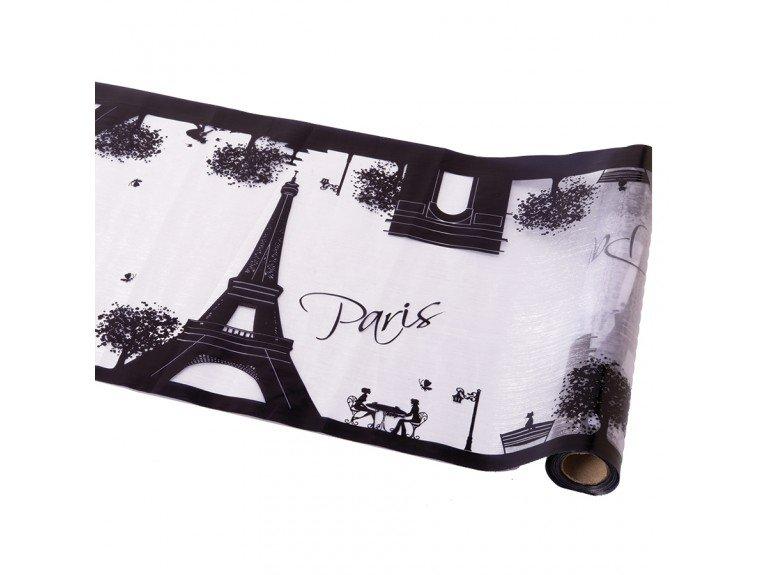 chemin de table decoration parisienne noir et blanc. Black Bedroom Furniture Sets. Home Design Ideas