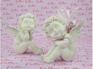 Grand ange avec dragées baptême fille