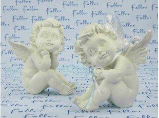 Grand ange avec dragées baptême pour garçon