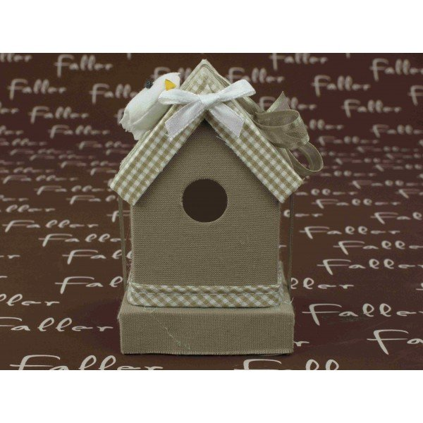 maison oiseau taupe avec drag es. Black Bedroom Furniture Sets. Home Design Ideas