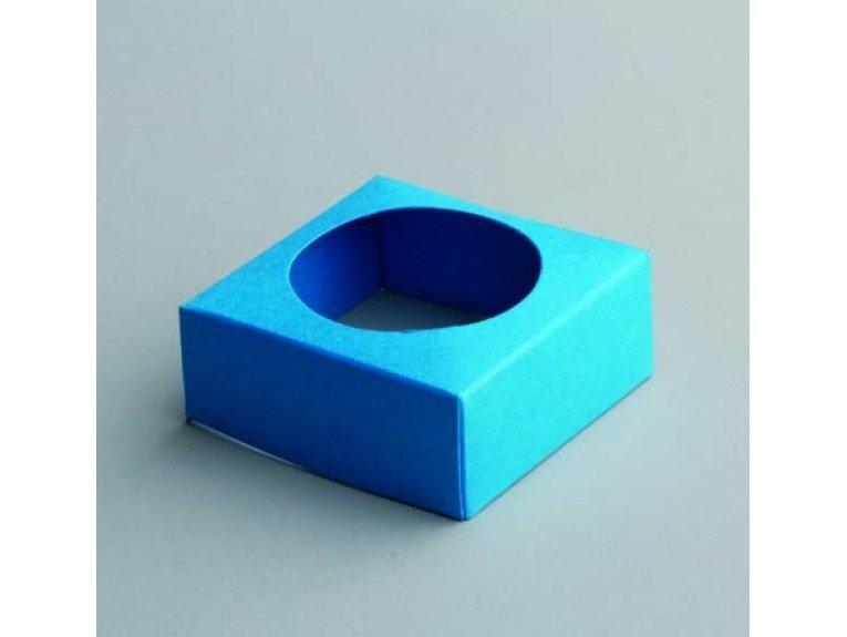 Socle turquoise pour boule plexi 5cm