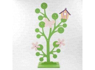Support à dragées arbre vert déco rose