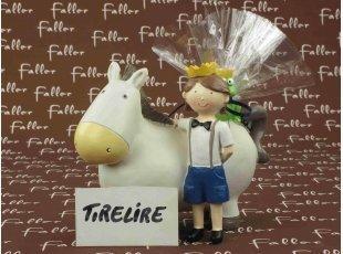 Tirelire prince et âne avec son pochon de dragées