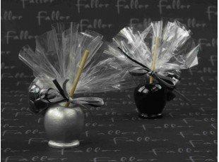 Pomme d'amour assortis avec sachet dragées mariage